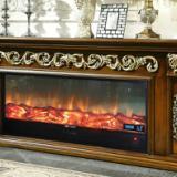 供应FS-T261红木色电视柜壁炉真火壁炉室内壁炉壁炉图电视