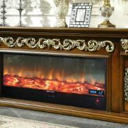 FS-T261红木色电视柜壁炉图片