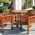 长沙碳化木休闲椅图片