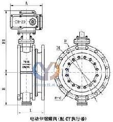 供应SD943H电动蝶阀图片