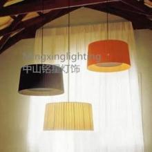供应美式乡村简约时尚布艺吊灯现代餐厅