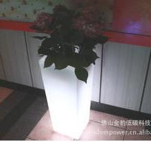 供应深圳方形圆形发光彩色花盆 滚塑 创意花盆 时尚花盆 花盆图片