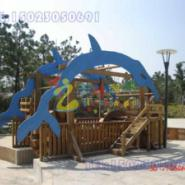 重庆江北区木质儿童绳网攀爬架图片