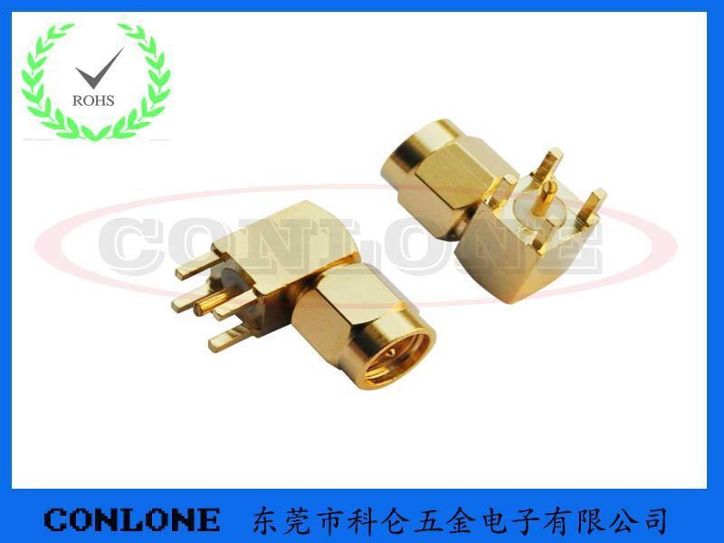 供应SMA-JWHD射频同轴连接器,SMA射频插座,SMA四脚90度弯头