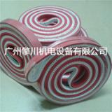 供应5MM工业加红胶传动带聚氨酯PU