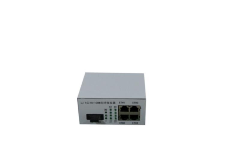 一光四电百兆光纤收发器/一光四电/网络摄像机专用光纤收发器
