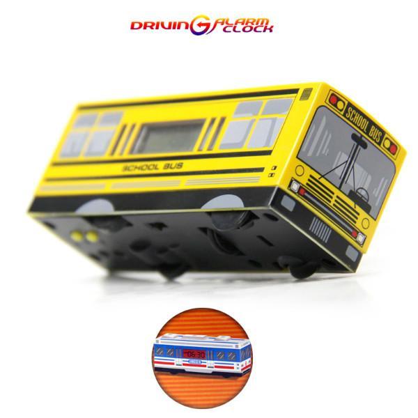 供应超级火车与校园巴士模型玩具闹钟