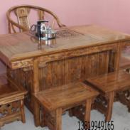 东阳榆木茶桌图片