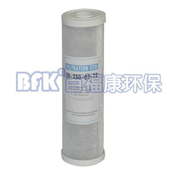 厂家供应净水器10寸网碳  CTO网碳滤芯 第三级使用  压缩活性炭