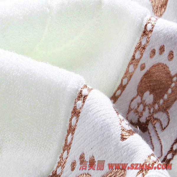 供应深圳宝安区礼品毛巾 32股纱亮丝蝴蝶毛巾 礼盒毛巾 纯棉吸水毛巾