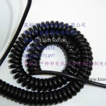 供应青岛PVC弹簧线/PUR螺旋电缆/卷线/TPU弹簧线/曲线直销批发