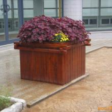 深圳商场【隔离花箱】木制花箱、高品质花箱厂家  木制花箱图片