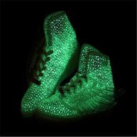 供应五星行耐克荧光绿鞋情侣荧光鞋好看的荧光鞋