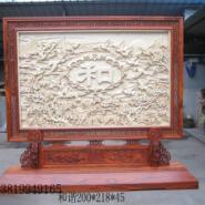 东阳木雕精品雕花落地屏风生产厂家图片