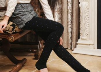 纯棉加绒加厚打底裤图片