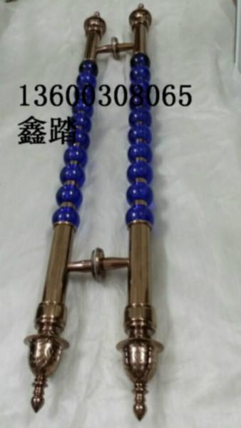 供应安徽奢华水晶拉手,定做高档圆形水晶大门拉手,来图加工生产
