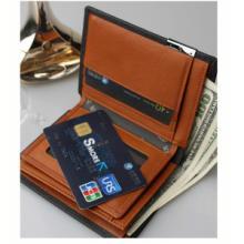 供应真皮短款男士钱包上海厂家订制真皮钱包男士两折短款钱夹