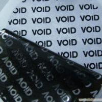 供应揭开留字VOID防伪材料不干胶