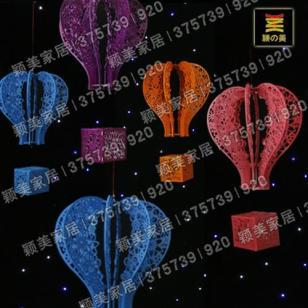 立体婚庆道具橱窗道具批发热气球图片