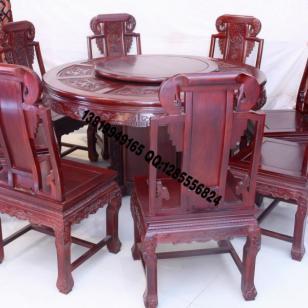 红木家具圆桌图片