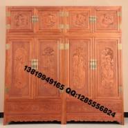 缅甸花梨木衣柜图片