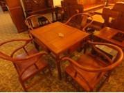 山西明式红木茶桌图片