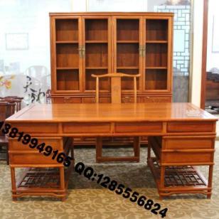 红木复古书桌图片