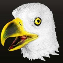 供应万圣节乳胶动物老鹰面具