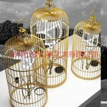 供应铁艺鸟笼摆设品不锈钢鸟笼摆件酒店装饰品艺术金属工艺品图片