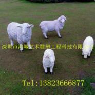 深圳最逼真小羊玻璃钢雕塑厂家图片