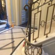 美捷尔铜艺酒店工程铜栏杆铜楼梯图片