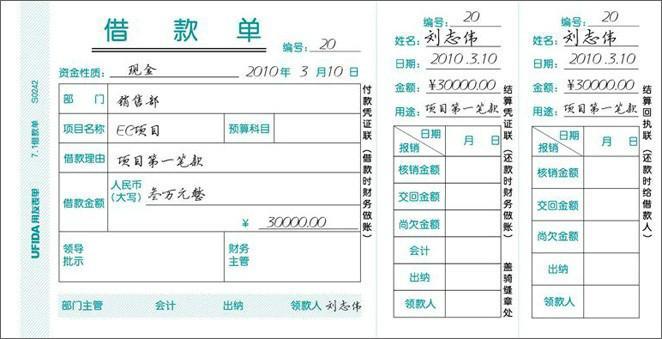 供应四川借款单销售批发公司