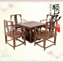 红木家具鸡翅木茶台中式实木矮南冠椅茶桌仿古方形休闲桌五件套批发