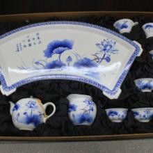 供应茶具厂家 青花玉瓷高白薄胎手绘功夫陶瓷茶具套装 手绘茶具厂家批发