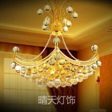 供应水晶灯传统金色客厅灯现代卧室灯图片