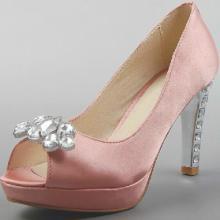供应水钻鱼嘴高跟鞋时尚潮流淑女高跟鞋时装粗跟鞋女装皮鞋批发批发