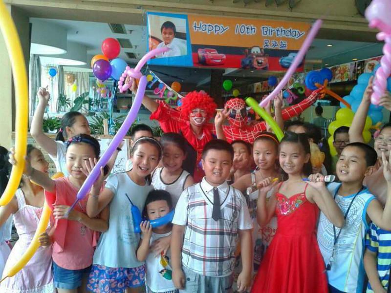供应广东深圳附近生日宴气球装饰小丑