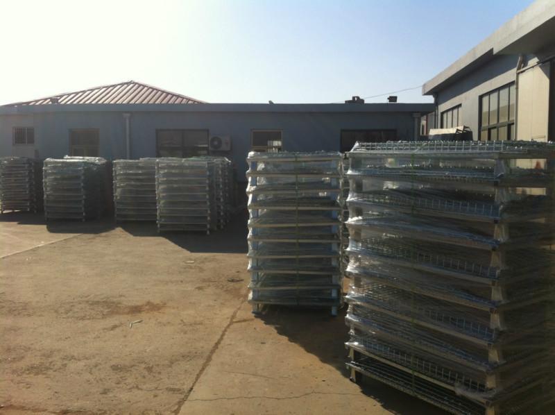 供应日照仓储笼折叠式蝴蝶笼铁笼子生产厂家