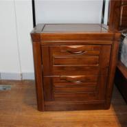 供应佳语轩实木床边柜全柚木床头柜两斗柜收纳柜厂家直销特价