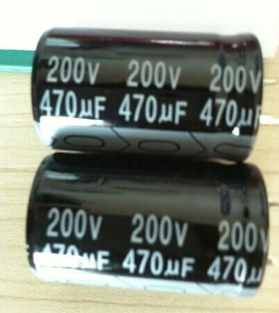 供应牛角电容470UF200V 22X35/焊针型铝电解电容器