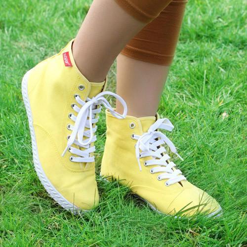 供应学生纯色系带单鞋透气孕妇休闲鞋