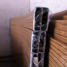 供应广东弧型铝方管 仿木纹色弧型铝方管 异形弧型铝方管厂家
