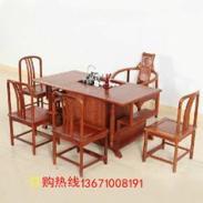 红木方形茶桌丨红木茶桌套装图片
