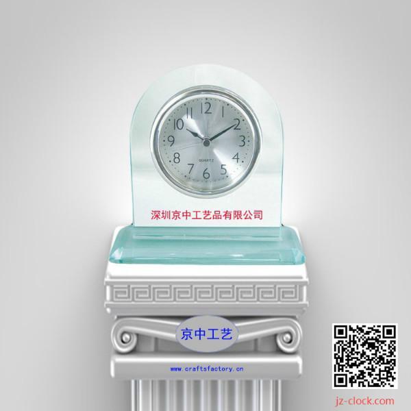 供应京中工艺品厂定制玻璃座钟客厅钟
