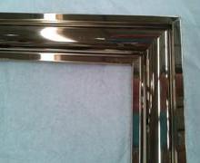 供应哈尔滨大型购物场所不锈钢画框/彩色不锈钢边框厂家批发图片