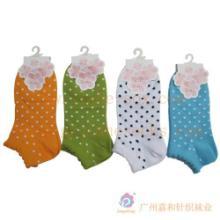 供应厂家直销纯棉热销女袜 圆点舒适女袜生产定做