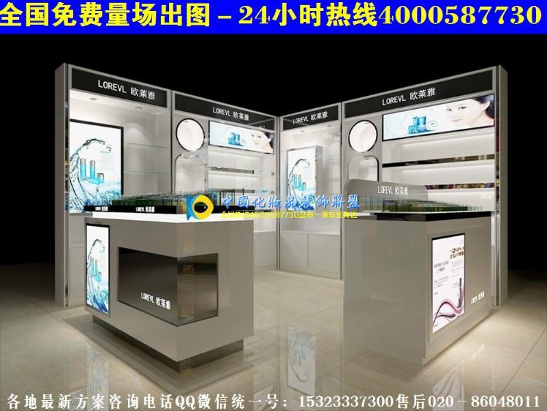 广州化妆品店装修效果图小型化妆品店装修设计大全H