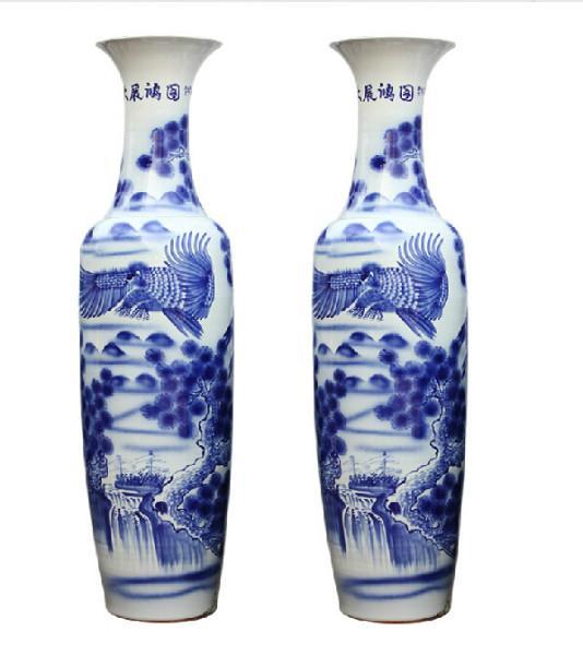 供应青花瓷大花瓶景德镇青花瓷花瓶