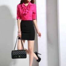 供应女式韩版打底白色衬衫长袖OL通勤职业装修身衬衣订做