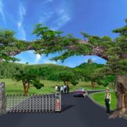 假树大门设计假树大门安装图片